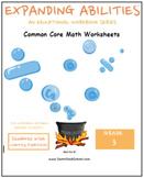 Grade 3 Math Bundle-Fractions,Geometry, Algebra,M&D,Base 10 - Learning Disabled