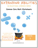 Grade 3 Math Bundle-Fractions,Geometry, Algebra,M&D,Base 10 - Learning Disabled