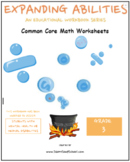 3rd Grade Math Bundle-Fractions,Geometry, Algebra,M&D,Base10 - M H or Medical