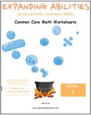 Grade 3 Math Bundle CCS-Fractions,Geometry,Algebra,M&D,Base10-Physical Challenge