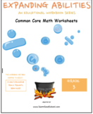 3rd Grade Math Bundle-Fractions,Geometry,Algebra,M&D,Base10- Traumatic Brain Inj
