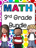 3rd Grade Math Bundle: Fractions, Multiplication, Estimation, Place Value,.....
