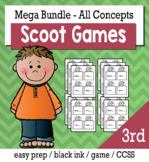 3rd Grade Math Bundle  - Scoot Game/Task Cards
