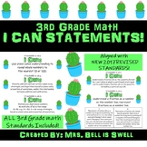 "3rd Grade Math *CACTUS* ""I Can"" Statements"