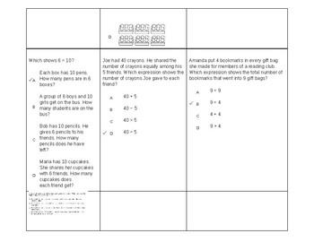 3rd Grade Math CCLS Test Questions by Standard