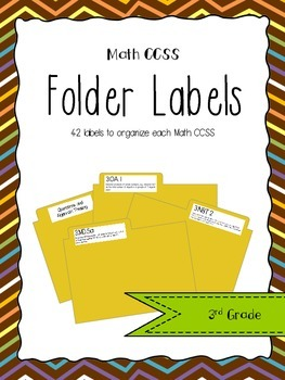 3rd Grade Math CCSS Folder Labels