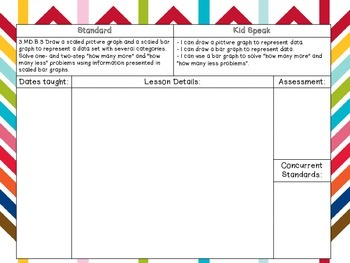 3rd Grade Math CCSS & Planning Pages