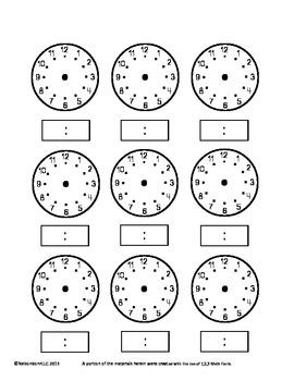 3rd Grade Math Calendar - Area, Perimeter, Time, Mass