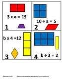 3rd Grade Math Calendar - Area/Perimeter, Missing Factors, Quadrilaterals