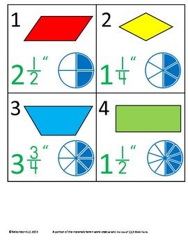 3rd Grade Math Calendar - Geometry, Equivalent Fractions, Measurement