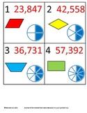 3rd Grade Math Calendar - Geometry, Equivalent Fractions, Rounding
