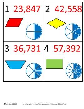 3rd Grade Math Calendar - Geometry, Equivalent Fractions,