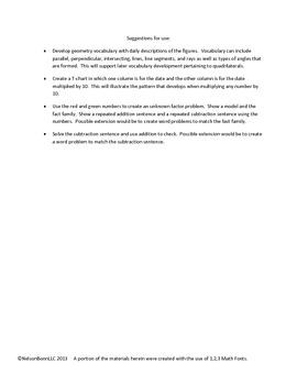 3rd Grade Math Calendar - Mult/Div, Parallel/Perpendicular, Subtraction
