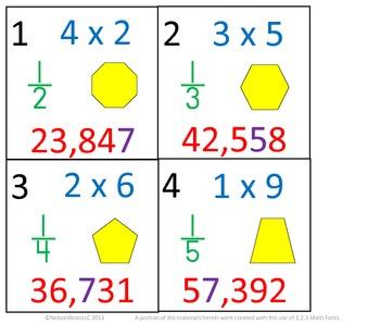 3rd Grade Math Calendar - Multiplication, Fractions, Number Sense, Geometry