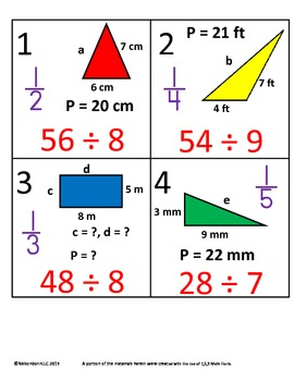 3rd Grade Math Calendar - Perimeter, Missing Addends, Divi