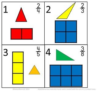 3rd Grade Math Calendar - Triangles, Area, Fractions
