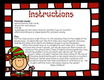 "3rd Grade Math: Candy Cane Crusade: A ""Sweet"" Christmastime Math Story"