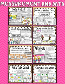 3rd Grade Math Center BUNDLE {ALL Standards!}