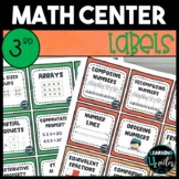 3rd Grade Math Center Labels