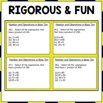 3rd Grade Number and Operations in Base Ten Task Cards