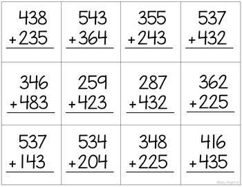 3rd Grade Math Center Puzzles