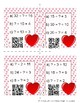 Valentine's Math Center QR Task Card Division Fractions Inverse Operations TEKS