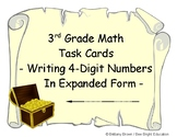 3rd Grade Math Center Task Cards Write 4-digit numbers in