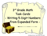 3rd Grade Math Center Task Cards Write 5-digit numbers fro