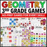 3rd Grade Math Centers: 3rd Grade Geometry Games {3.G.1, 3.G.2}