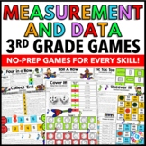 3rd Grade Math Centers: 3rd Grade Measurement and Data Games