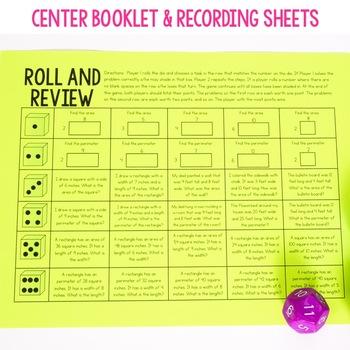 3rd Grade Math Centers - Area and Perimeter