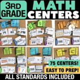 3rd Grade Math Centers Bundle - 3rd Grade Math Task Cards