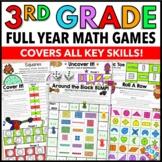 3rd Grade Math Centers: 3rd Grade Math Games No Prep Bundle