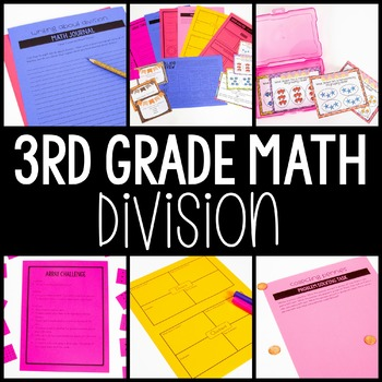 3rd Grade Math Centers - Division