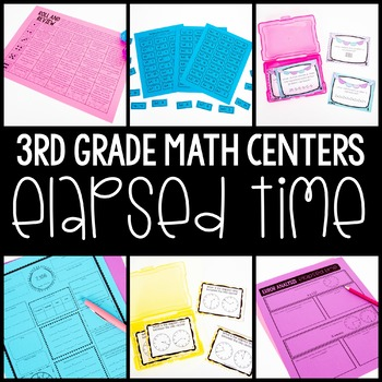 3rd Grade Math Centers - Elapsed Time
