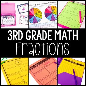 3rd Grade Math Centers - Fractions