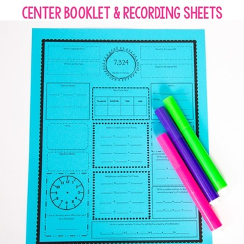 3rd Grade Math Centers - Geometry