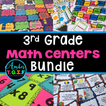 3rd Grade Math Centers, Games and Activities HUGE Bundle