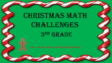 3rd Grade Math Centers Just for Christmas