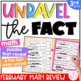 3rd Grade Math Games | Math Puzzles | Spiral Math Review | Math Centers | Feb.
