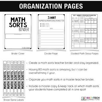 3rd Grade Math Centers - Math Sorts - Math Games for Review