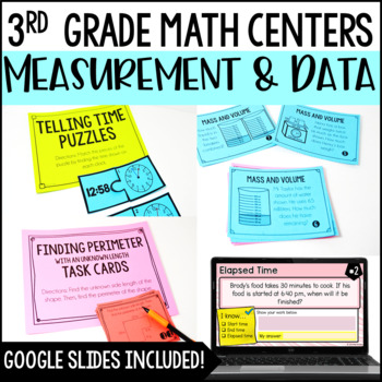 3rd Grade Math Centers {Measurement and Data}