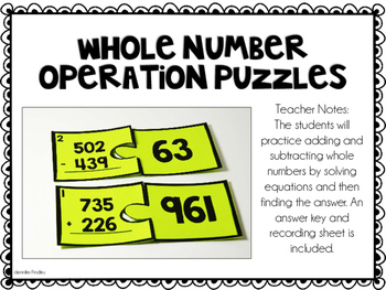 3rd Grade Math Centers {Number and Operations: Base Ten}