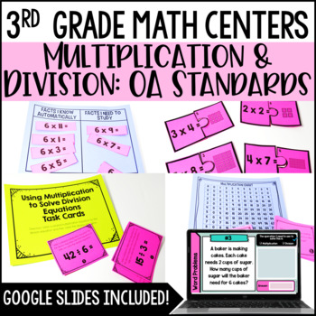 3rd Grade Math Centers {Operations and Algebraic Thinking}