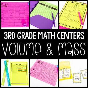 3rd Grade Math Centers - Volume and Mass