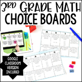 3rd Grade Math Choice Boards {All Standards}