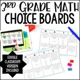 3rd Grade Math Choice Boards   Google Classroom Included f