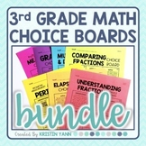3rd Grade Math Choice Boards Bundle - Editable and Digital!