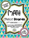 3rd Grade Math Choice Boards CCSS: Measurement and Data