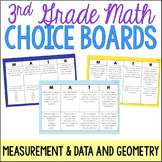 3rd Grade Math Choice Boards {Measurement and Geometry}